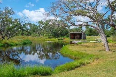 Camp Aranzauz's kayak pond
