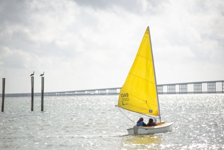 Campers from Camp TLC enjoy sailing along Copano Bay. Photo by: Beyond Memory Photography