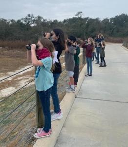 FLC Birding Team out birdwatching at Camp Aranzazu