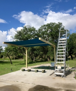 Shade Structure at Ropes Course